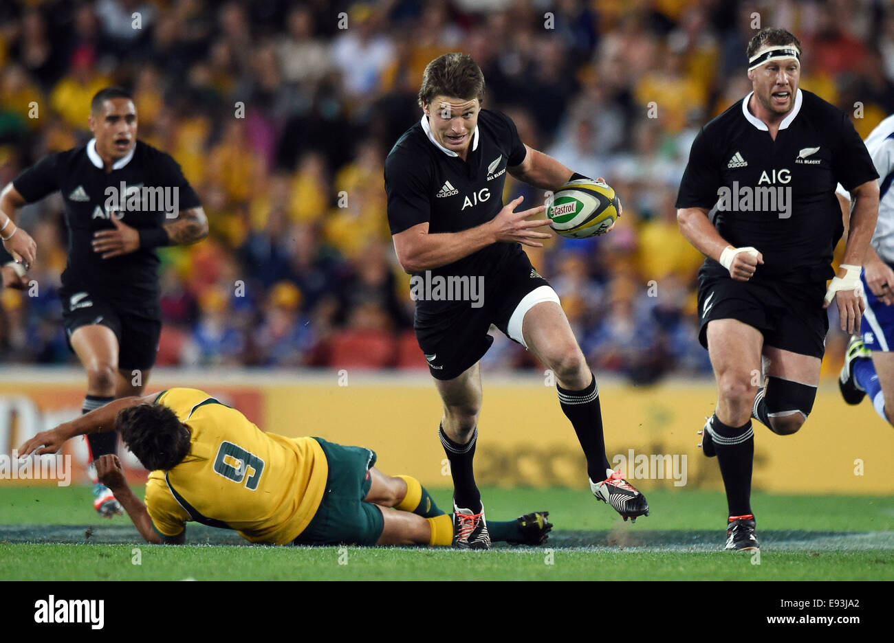 Suncorp Stadium Brisbane Australia 18th Oct 2014 Beauden Stock Photo Alamy