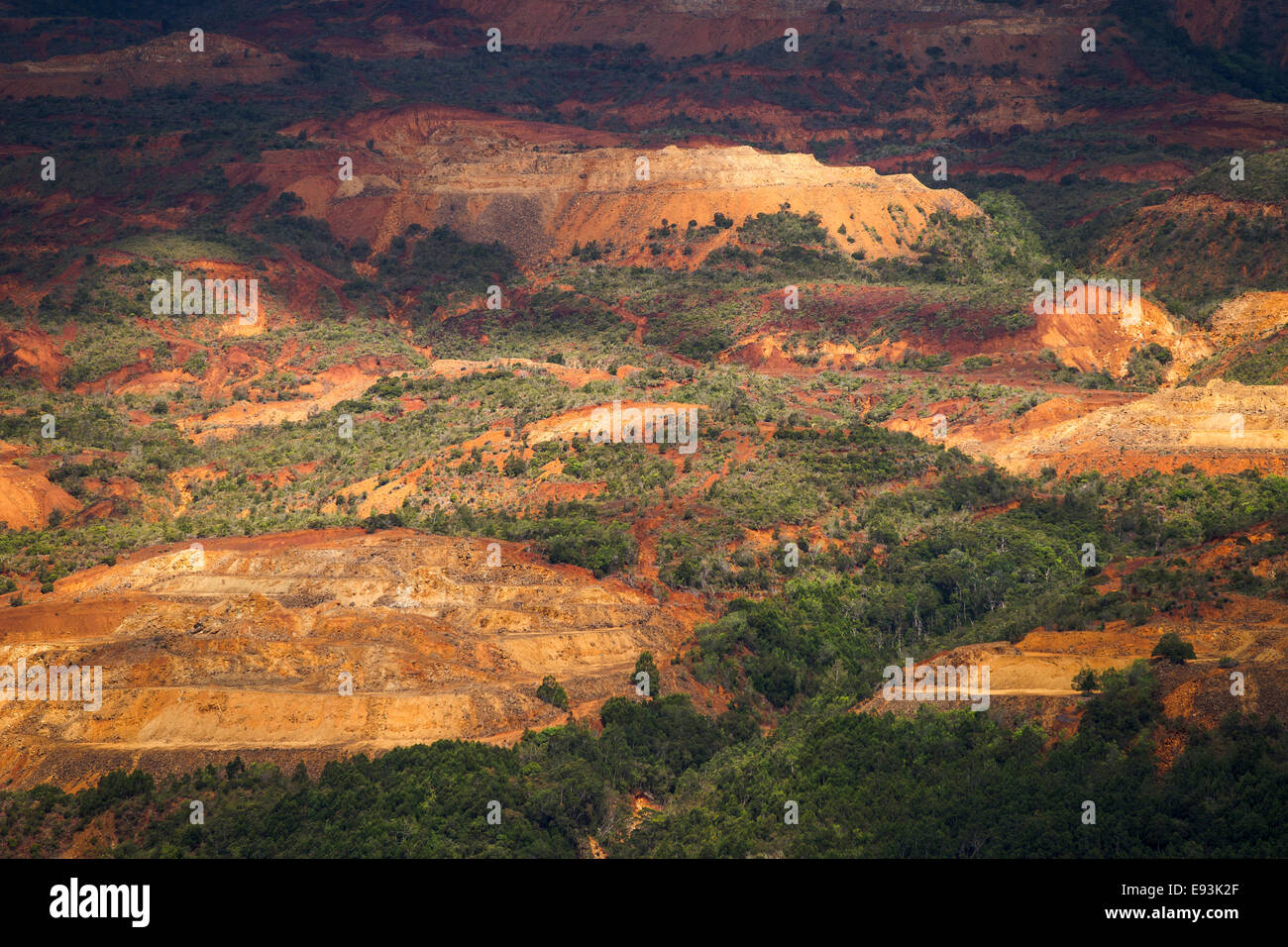 Countryside with red earth, Grande Terre, New Caledonia, Oceania - Stock Image