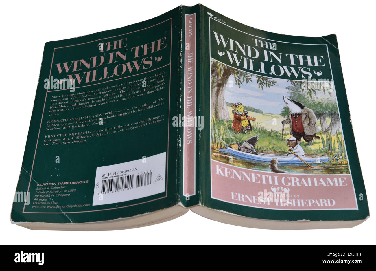 The Wind in the Willows by Kenneth Grahame - Stock Image