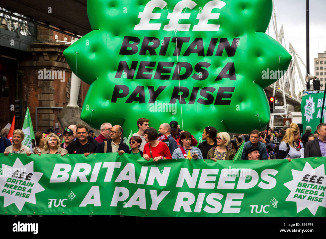 London, UK. 18th Oct, 2014.  'Britain Needs A Pay Rise' National Demonstration Credit:  Guy Corbishley/Alamy - Stock Image