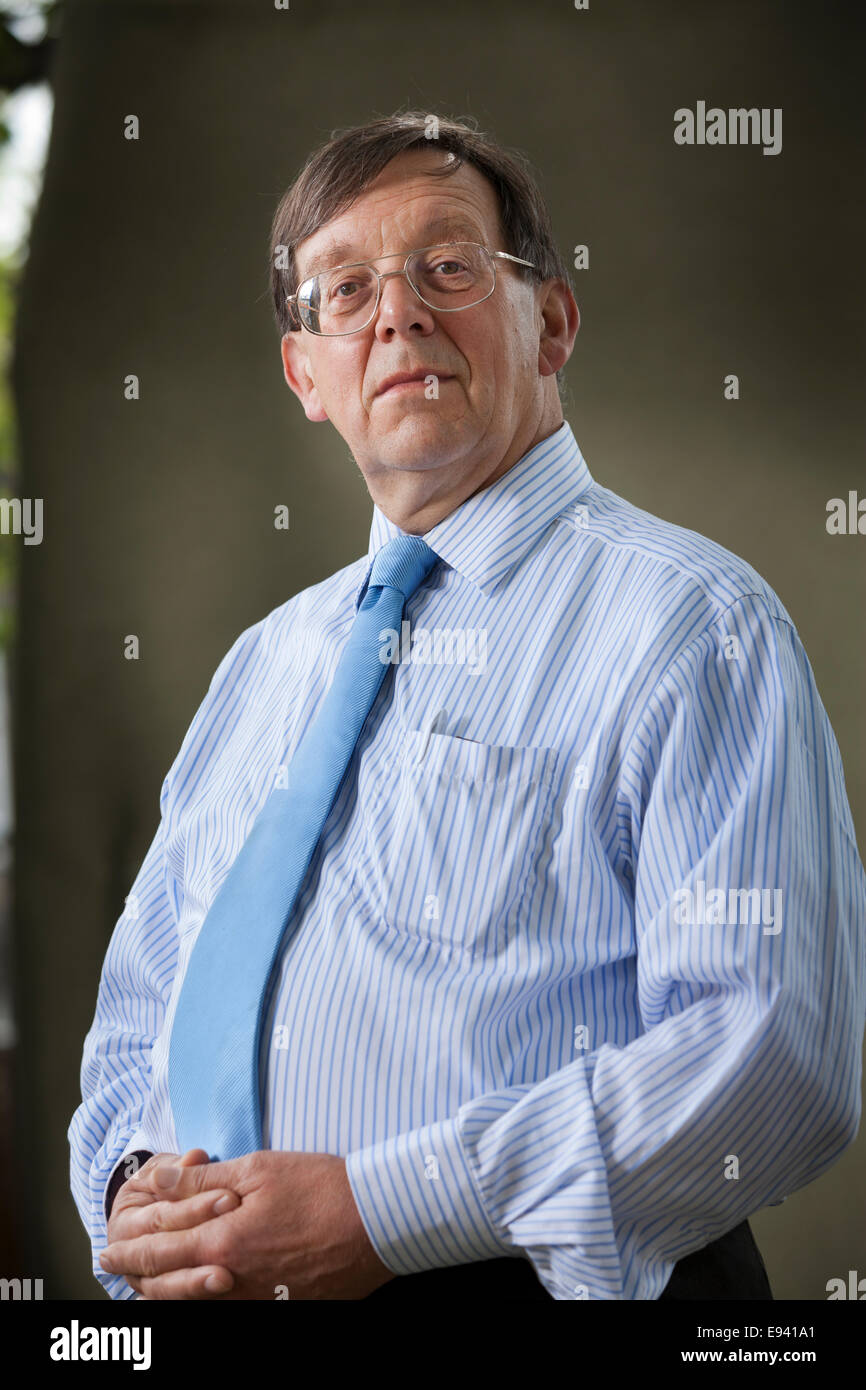 Professor Iain McLean, Professor of Politics & author, at the Edinburgh International Book Festival 2014. - Stock Image