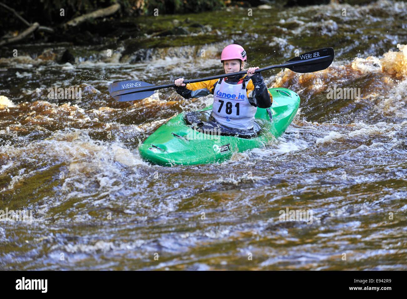 Stock Photo - Kayaking competition, Buncrana, County Donegal, Ireland.  ©George Sweeney /Alamy - Stock Image