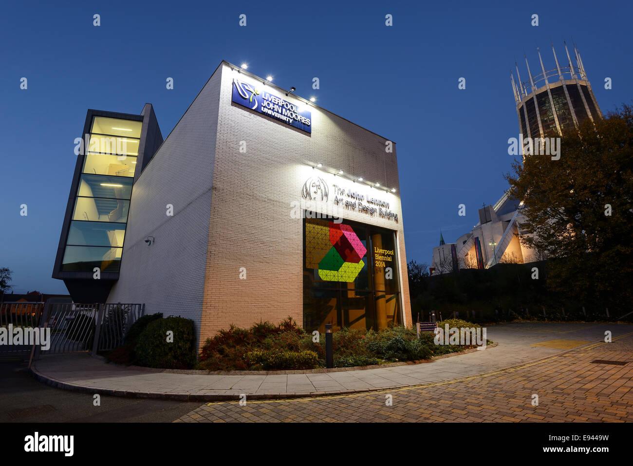 The John Lennon Art and Design Building Liverpool at John Moores University UK - Stock Image