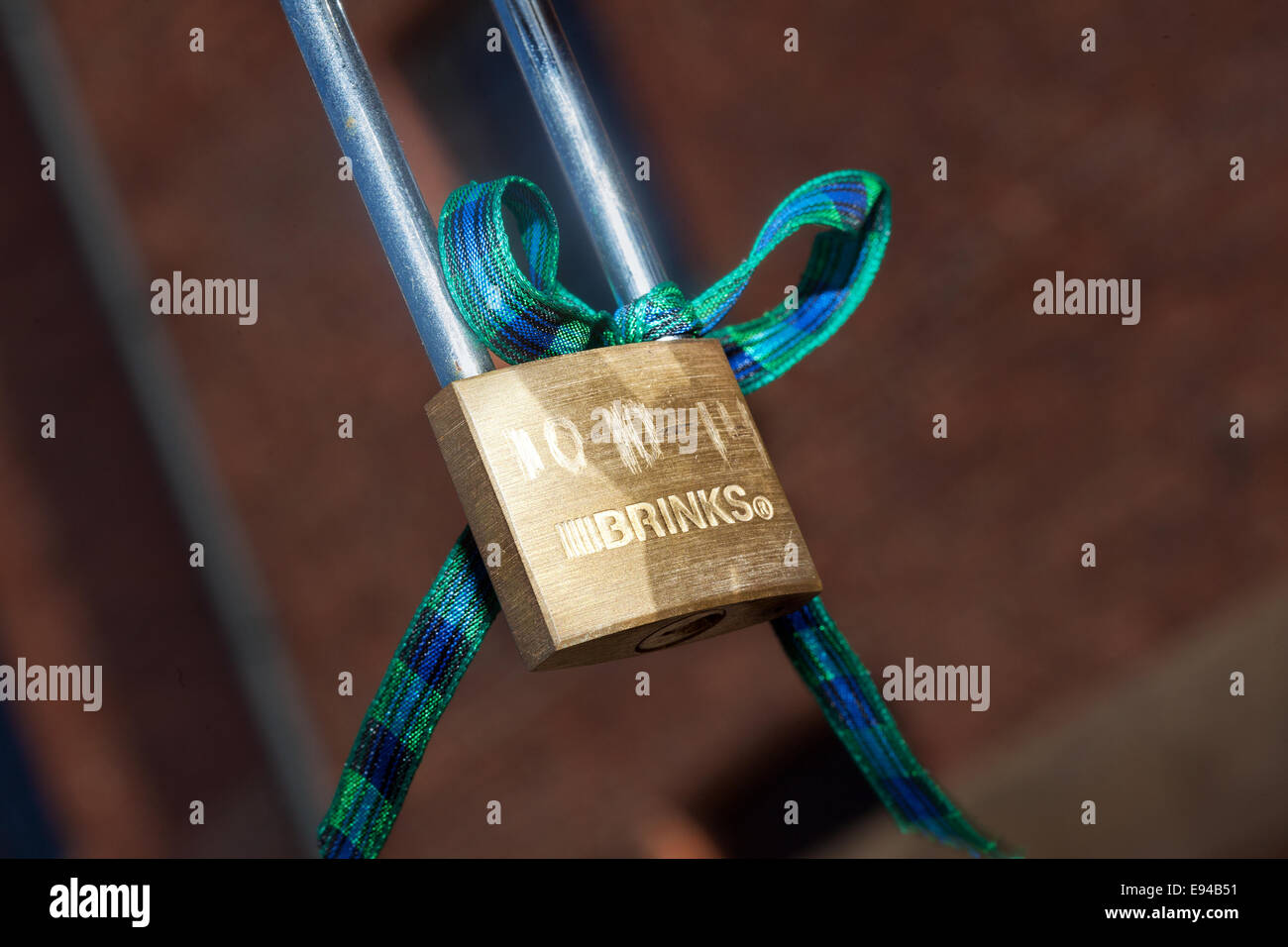 The future of hundreds of sentimental love locks at Liverpool's Albert Dock is under review.   There was uproar - Stock Image