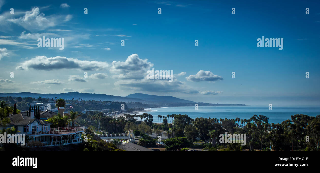 Overlooking Doheny State Beach, Dana Point and San Clemente on a beautiful southern Californian day. - Stock Image