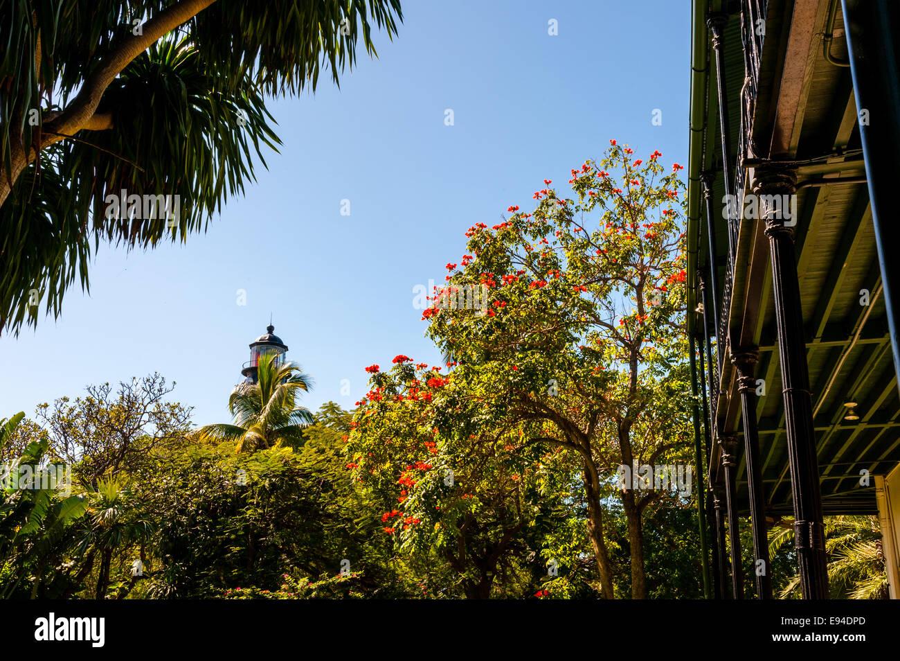 US, Florida, Key West. Ernest Hemingway Home. Stock Photo