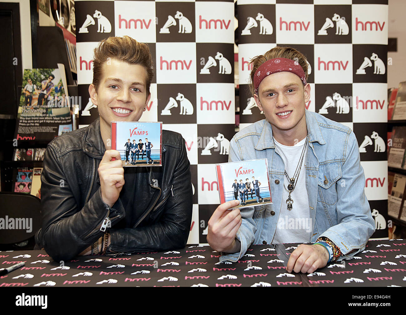 Tristan And James Of The Vamps Meet Fans And Sign Copies Of Their Cd