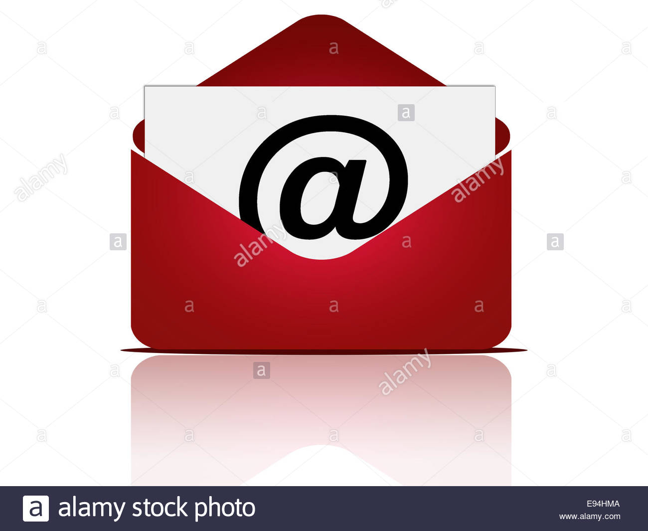 Email message with envelope - Stock Image