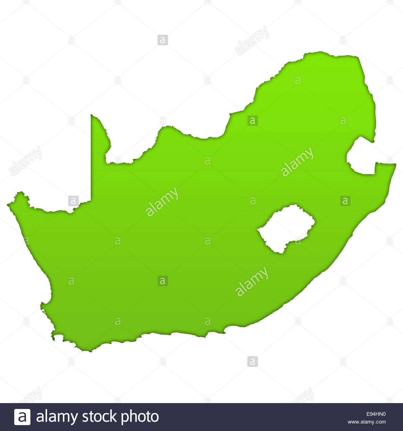 South Africa icon map - Stock Image