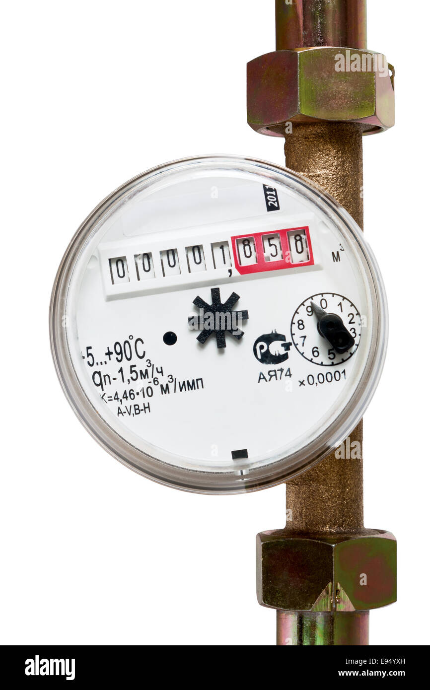 Water meter - Stock Image