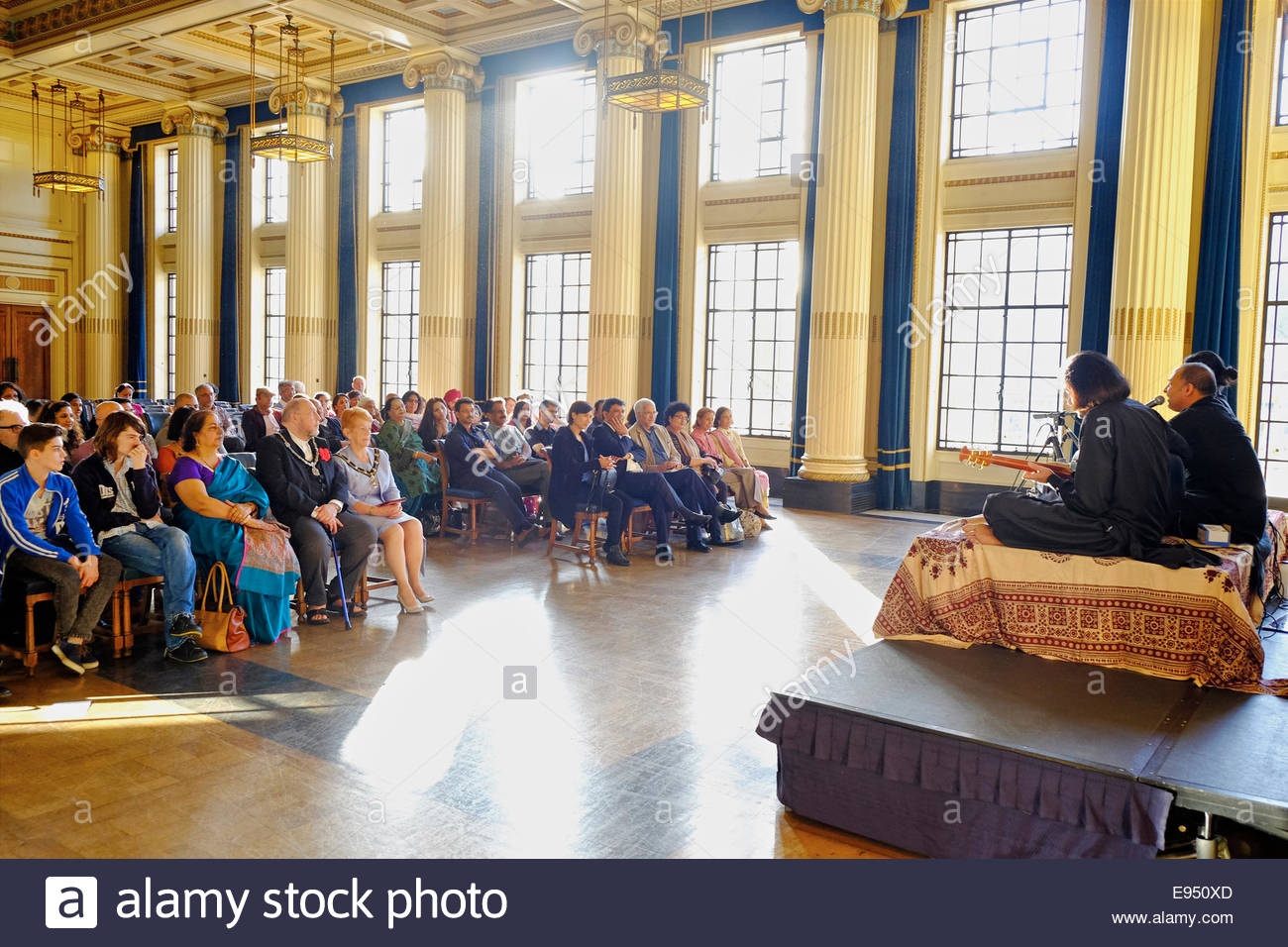 Nottingham, UK, 19 October 2014   Kavya Rang: Ghazal - Indian Music at Nottingham Festival of Words  Indian music - Stock Image
