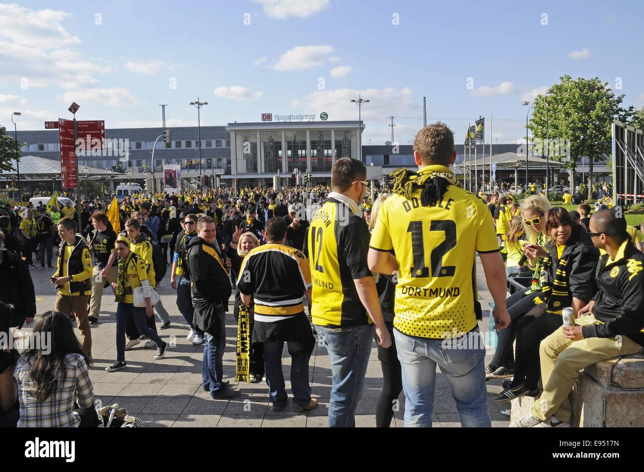 football club BVB, fans, Dortmund, Germany - Stock Image