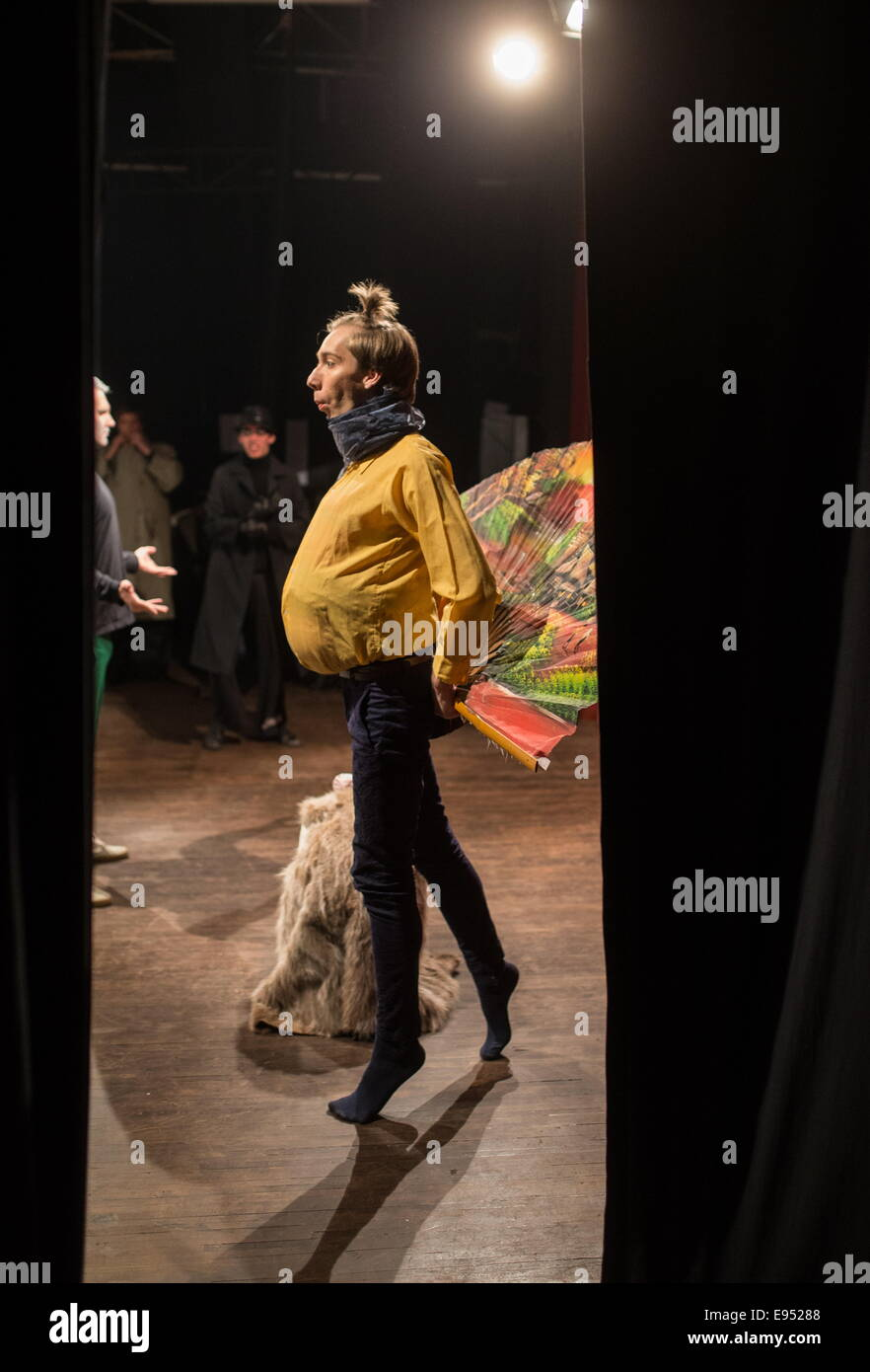 Moscow, Russia. 16th Oct, 2014. A student acting during a play rehearsal at the Boris Shchukin Theatre Institute. - Stock Image