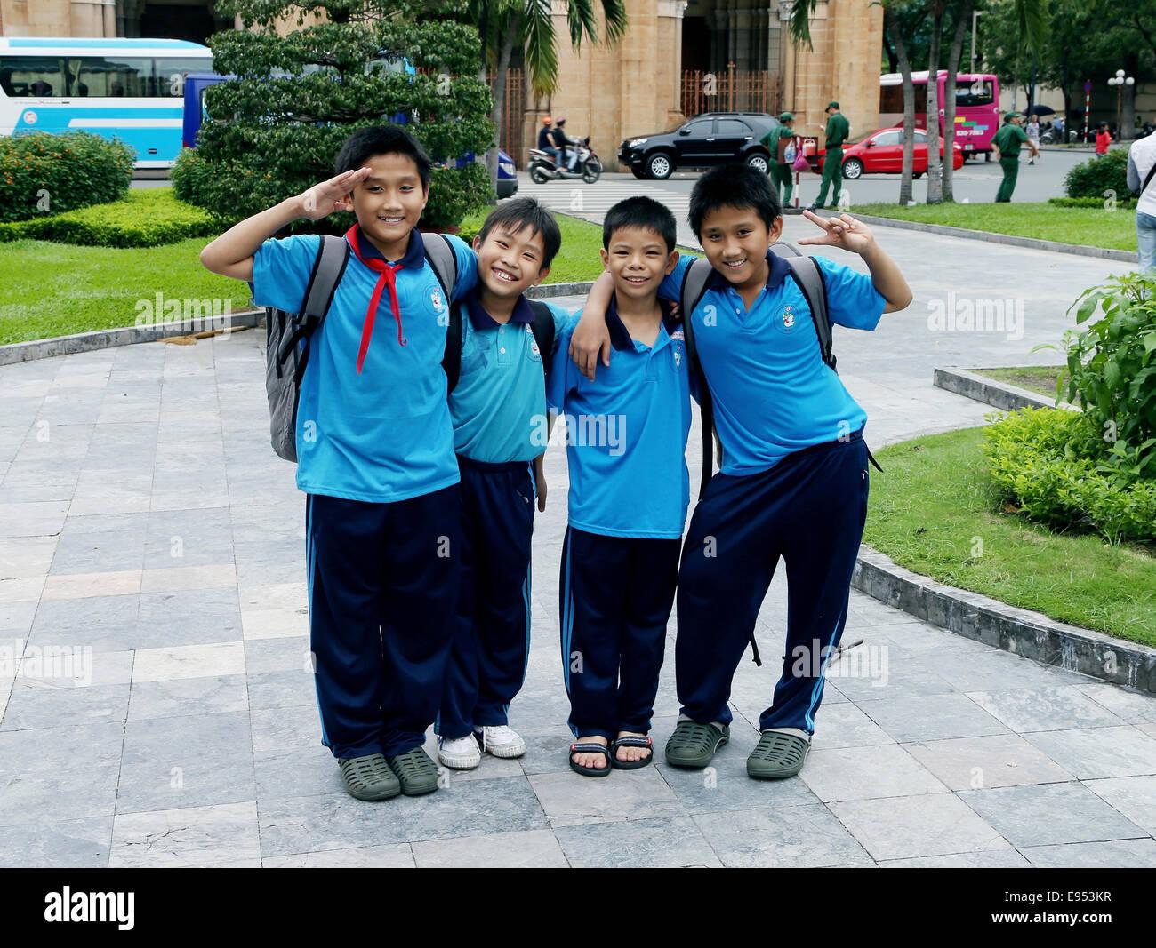 Schoolboys, Ho Chi Minh City, Vietnam - Stock Image
