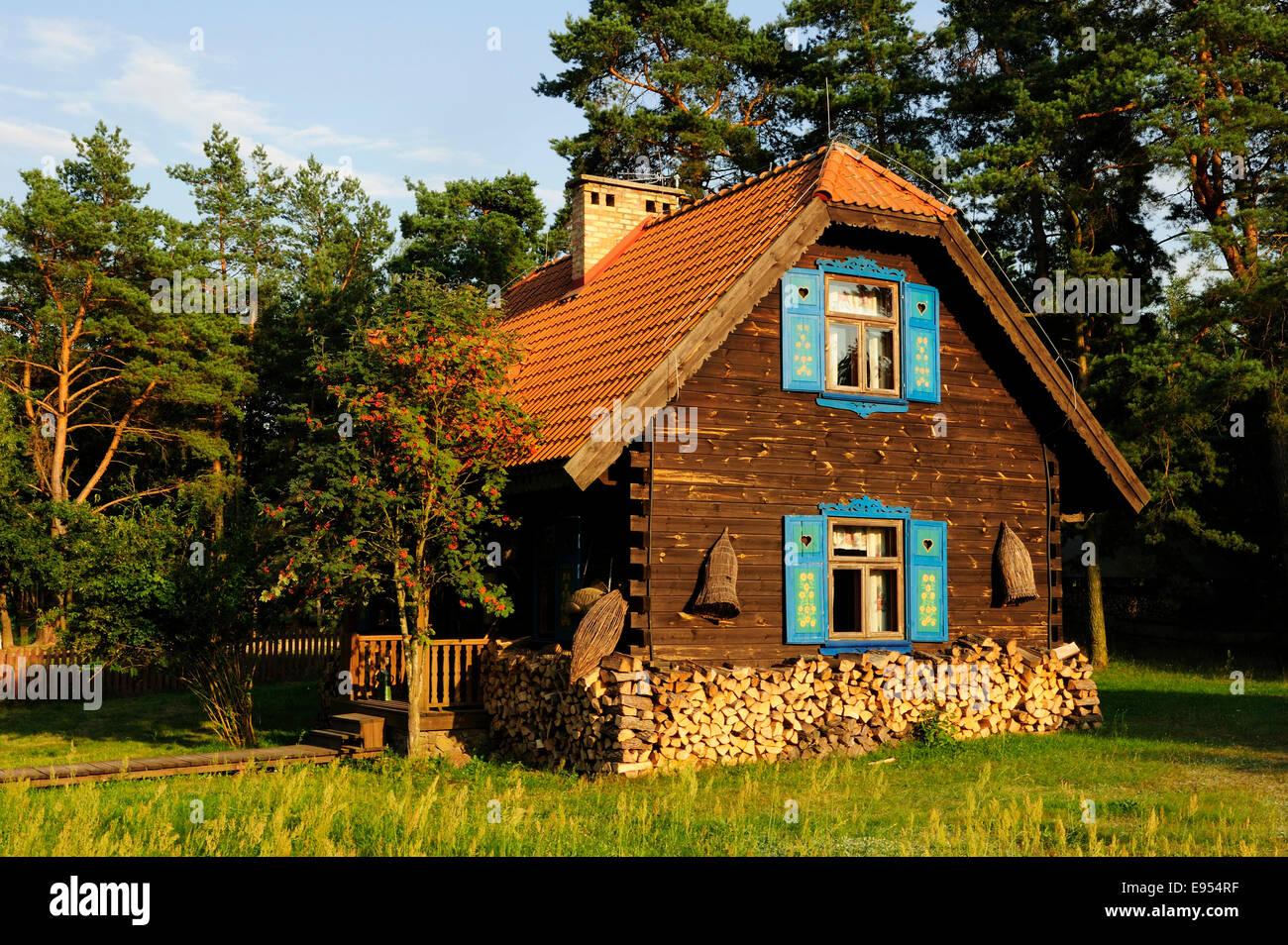 Farm, Tykocin, Podlaskie Voivodeship, Poland - Stock Image
