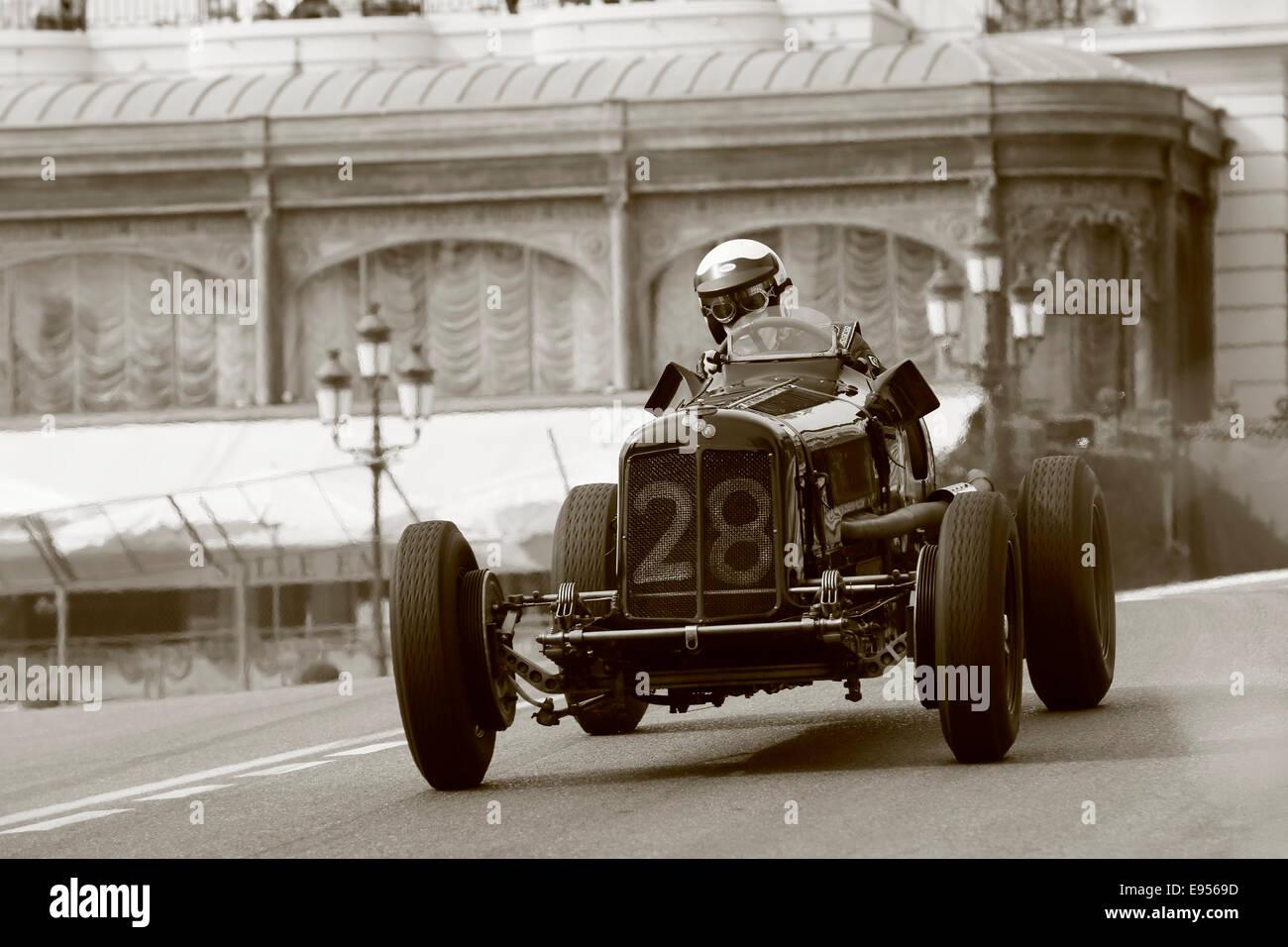 Historic racing car Era B, built in 1936, driver Paddins Dowling, 9th Grand Prix de Monaco Historique, Principality - Stock Image