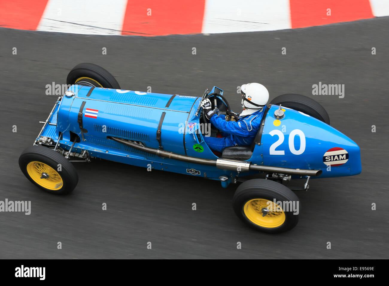 Historic racing car Era R5B, built in 1936, driver Charles McCabe, 9th Grand Prix de Monaco Historique, Principality - Stock Image