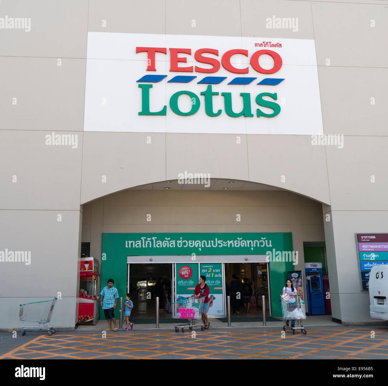 Tesco Lotus supermarket in Thailand Stock Photo - Alamy
