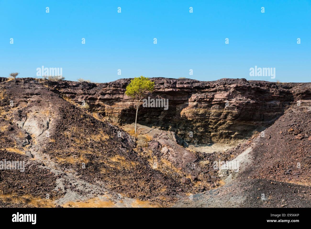 Burnt Mountain, Damaraland, Namibia - Stock Image