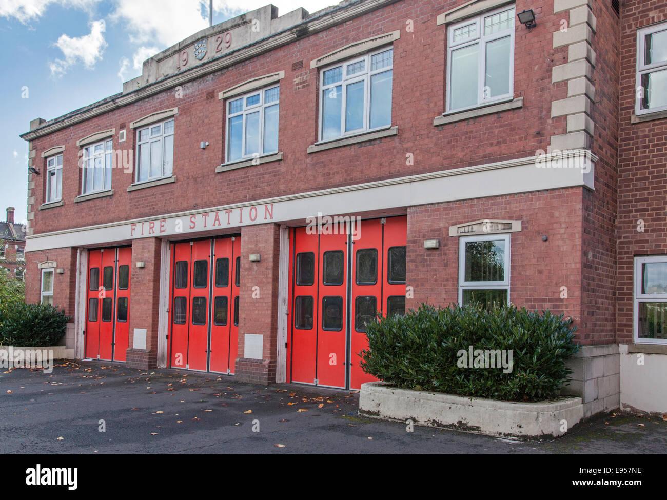 Kidderminster Fire Station, Castle Road, Worcestershire, England, UK - Stock Image