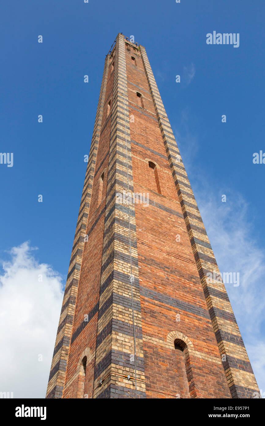 Weavers Mill brick chimney, Kidderminster, Worcestershire, England, uk - Stock Image
