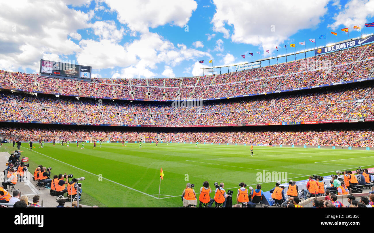 BARCELONA - MAY 03: The Camp Nou football stadium, home ground to Barcelona Football Club FC. - Stock Image
