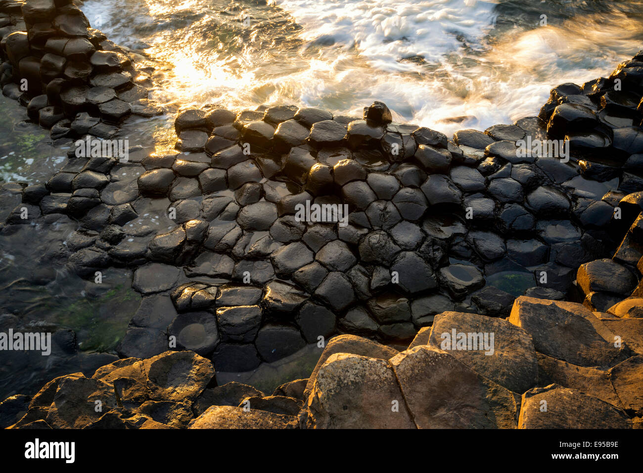 The Giants Causeway, Co, Antrim, Northern Ireland - Stock Image