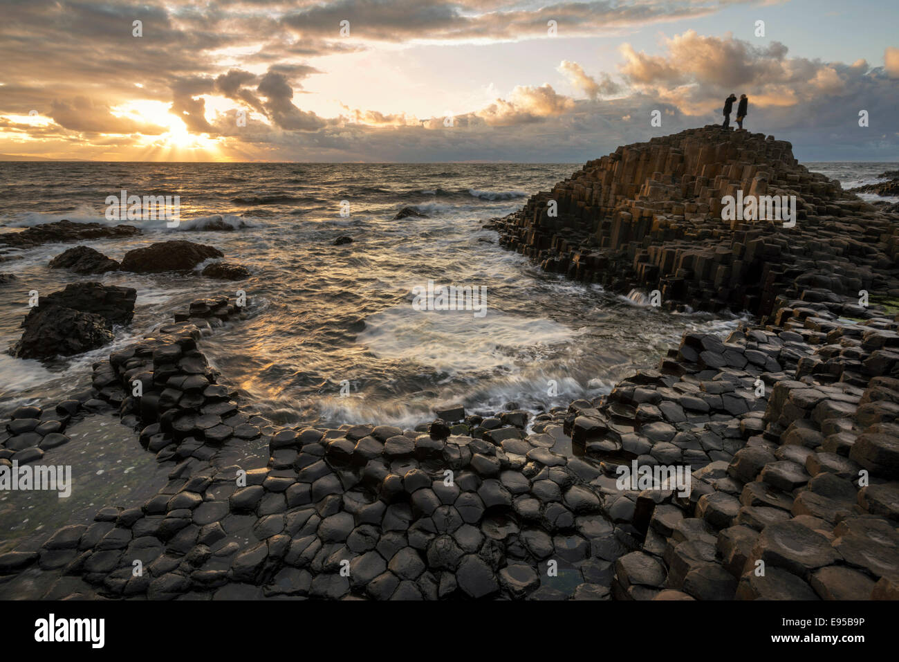 The Giants Causeway, Co, Antrim, Northern Ireland - Stock Image