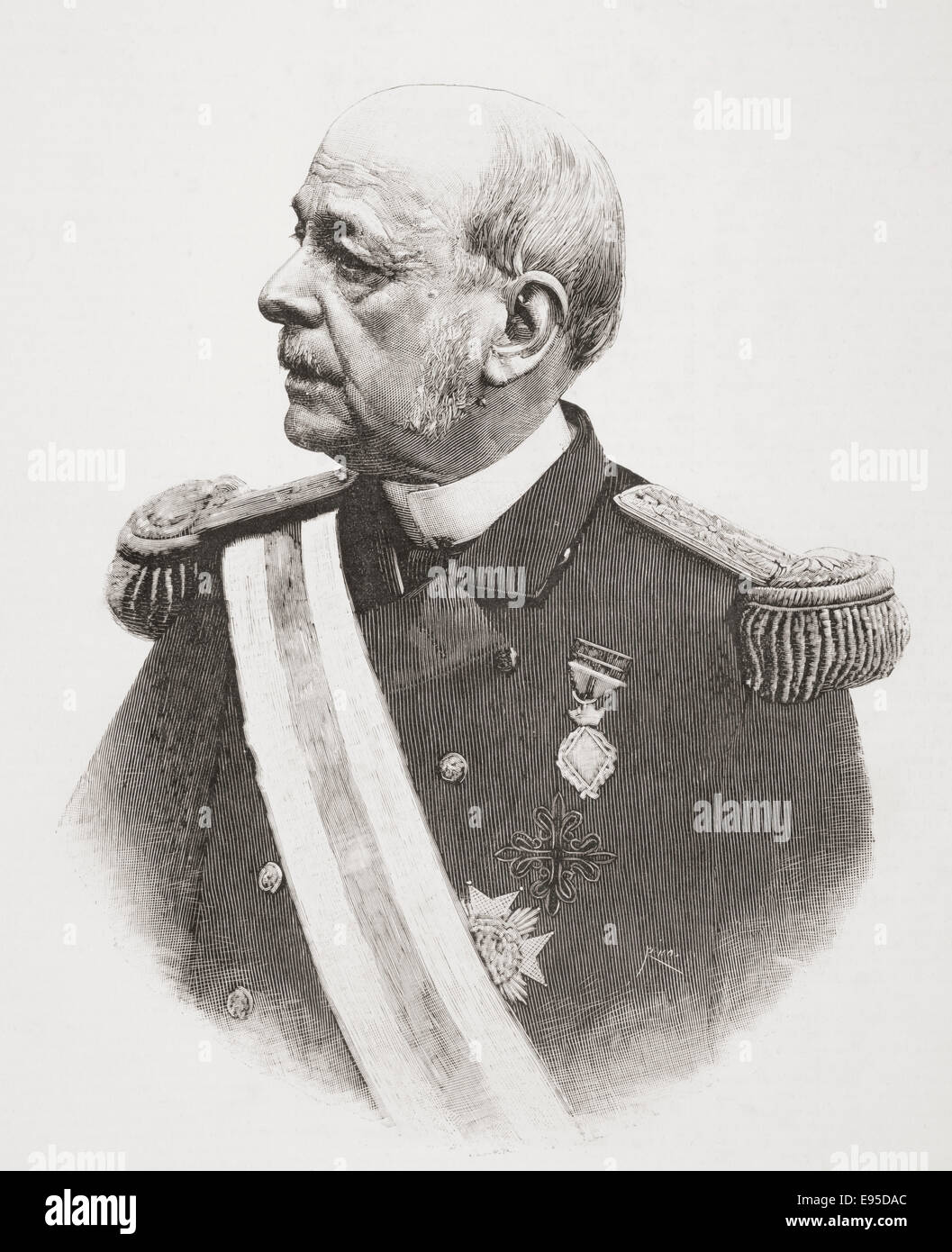 José María Beránger y Ruiz de Apodaca,  1824 – 1907.  Spanish military officer and Minister of the - Stock Image