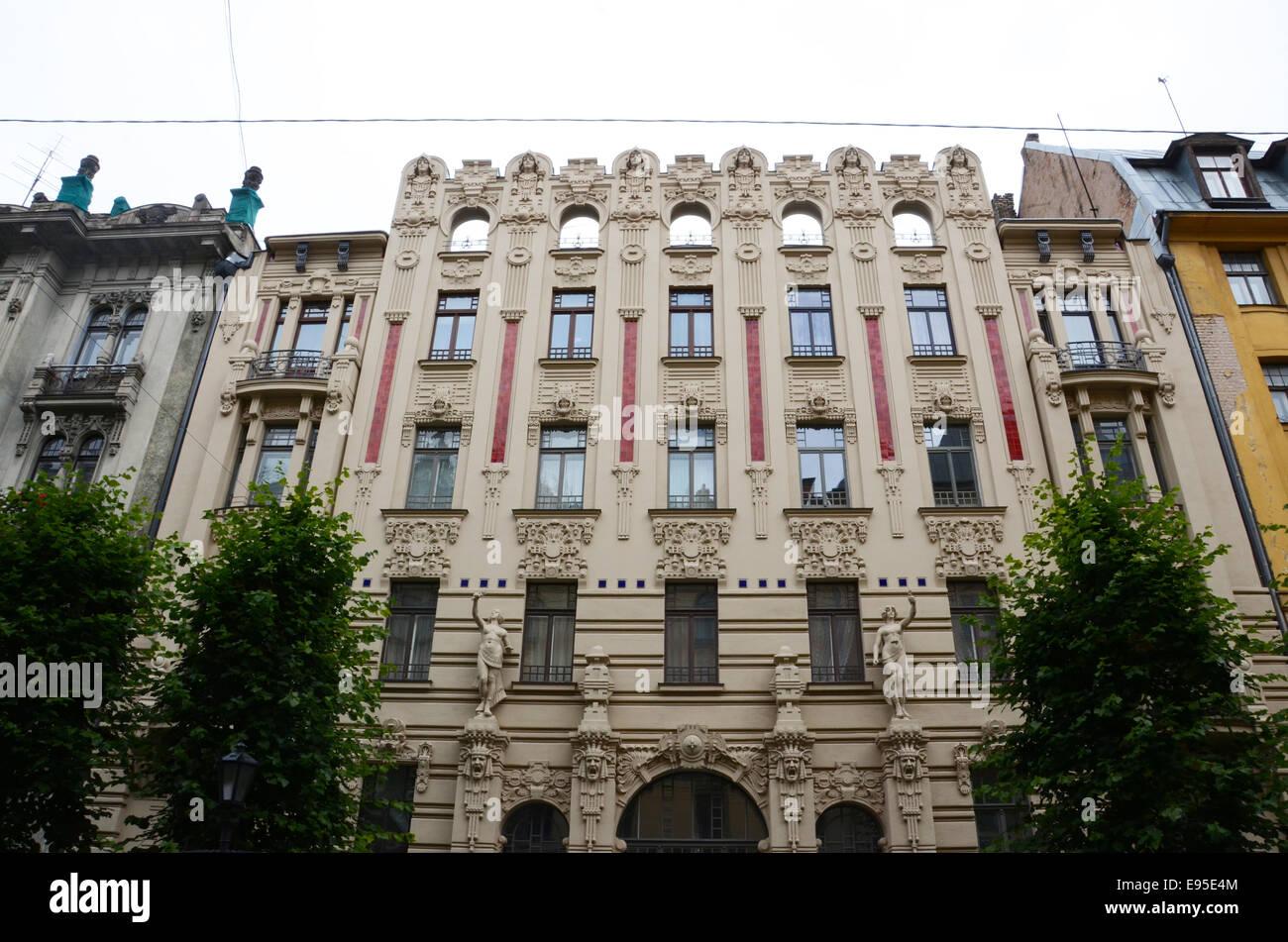 Strēlnieku iela 9, Rīga, LV-1010, Latvia - Stock Image