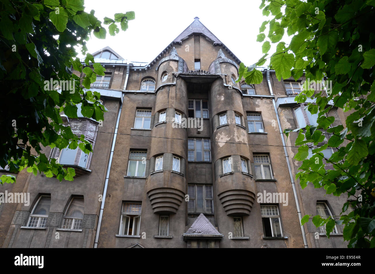 Strēlnieku iela 9, Rīga, LV-1010, Latvia art deco building - Stock Image