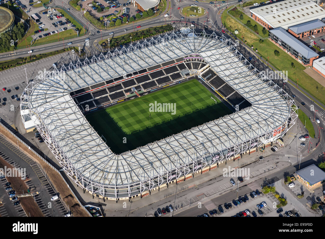 An Aerial View Of The Ipro Stadium Home Of Derby County Fc Stock Photo Alamy