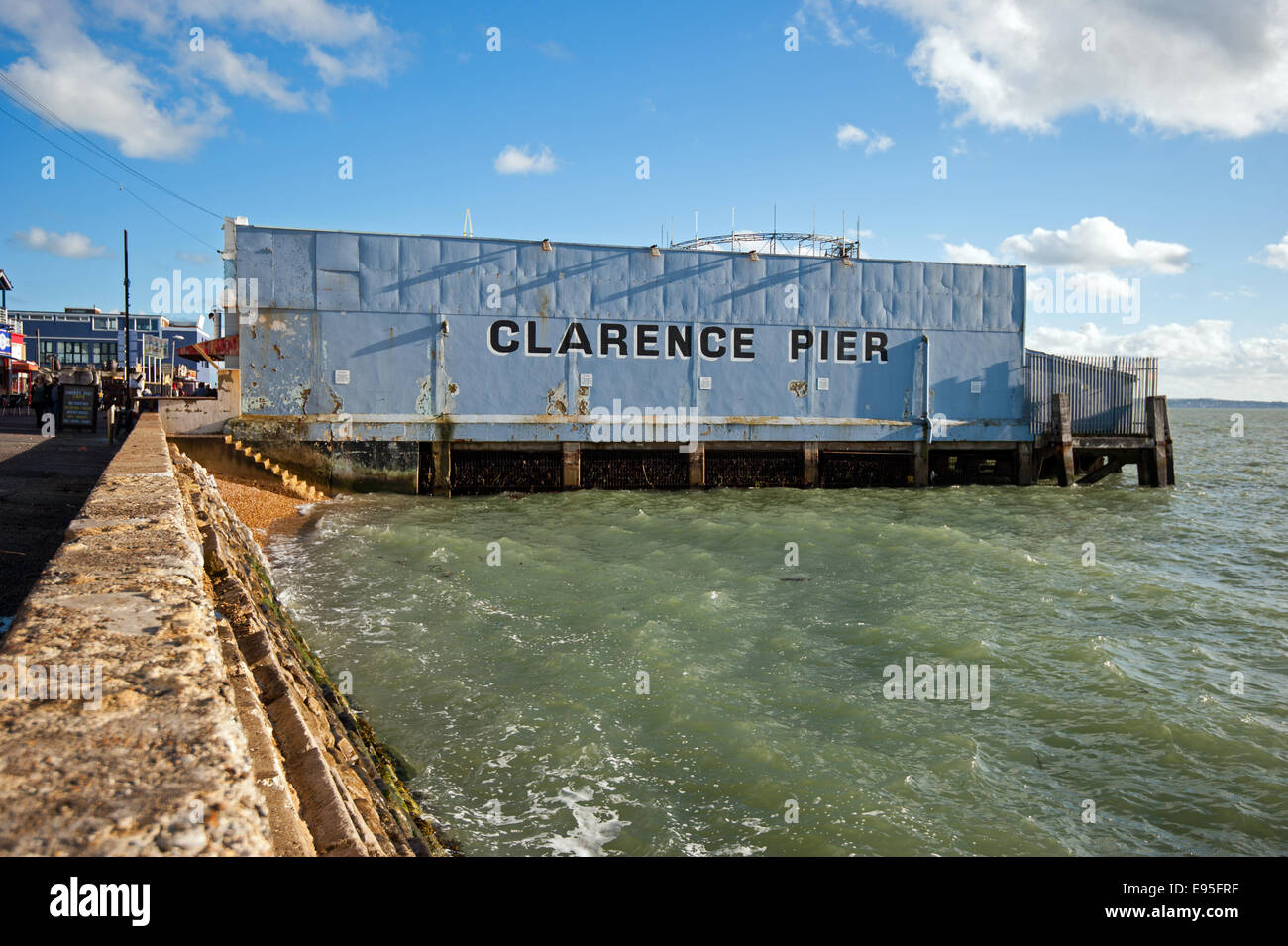 Clarence Pier on Southsea seafront, Portsmouth Stock Photo