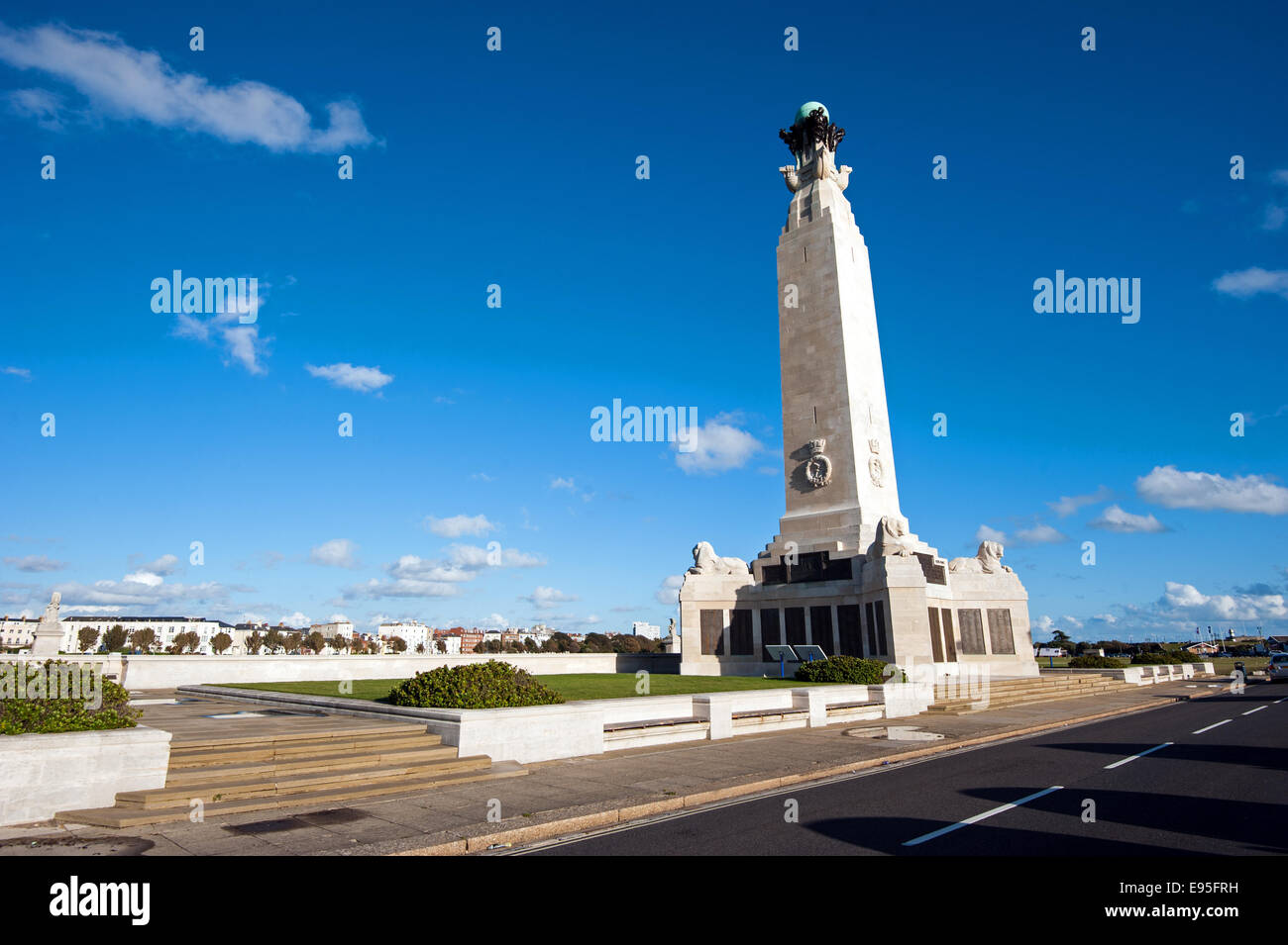 The Portsmouth Naval Memorial on Southsea Common commemorating members of the Royal Navy who had no known grave Stock Photo