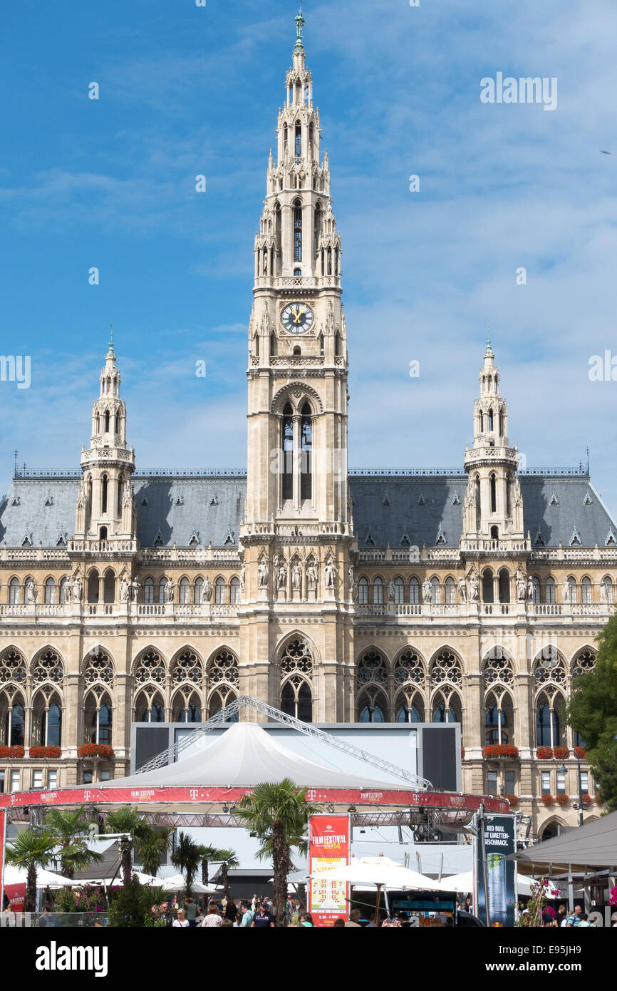 The annual Film Festival held at the Rathaus in Vienna, Austria - Stock Image