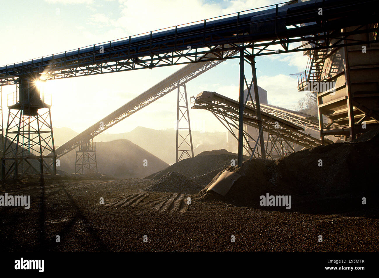Industry coal yard - Stock Image