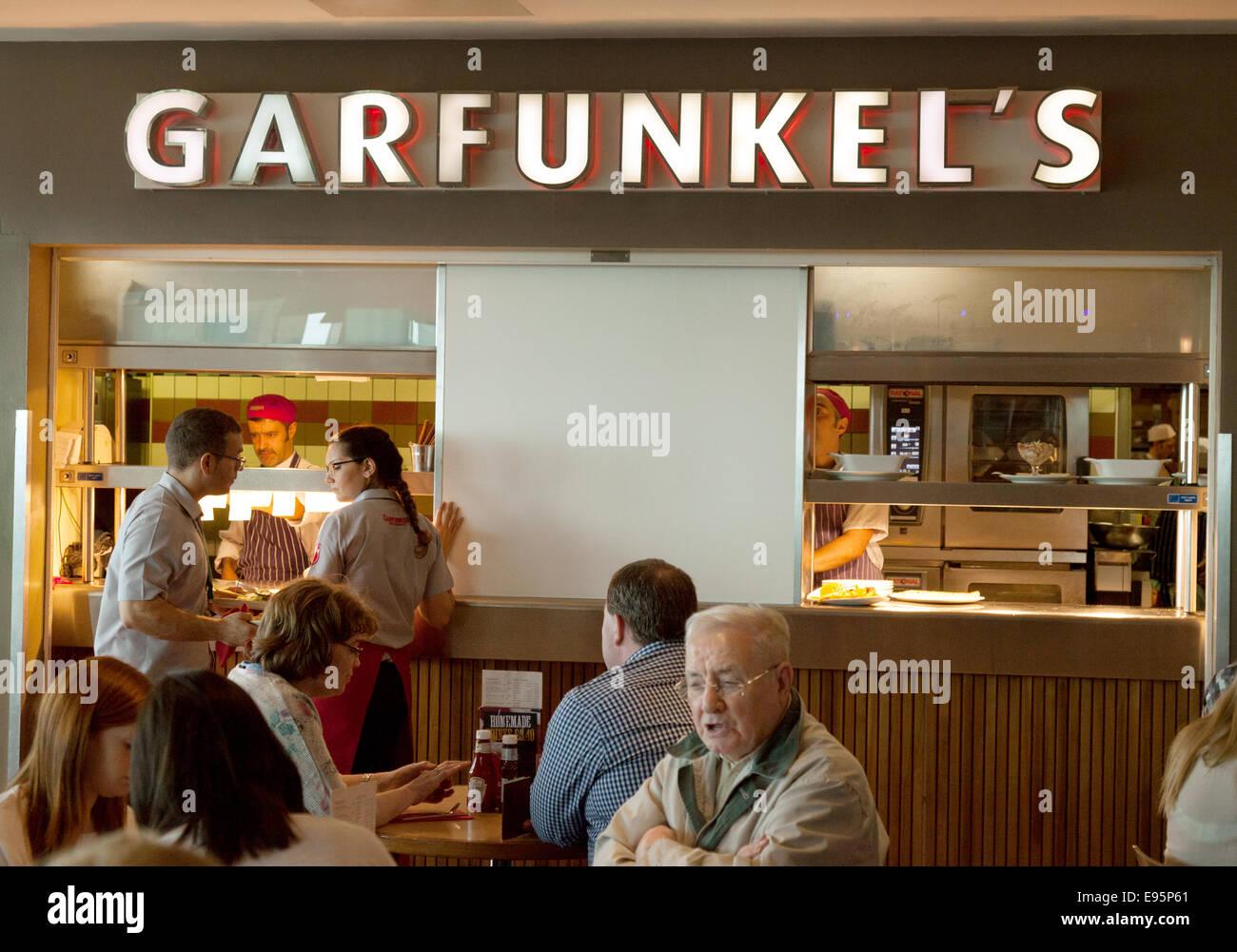 Garfunkels restaurant, North terminal, Gatwick airport UK - Stock Image
