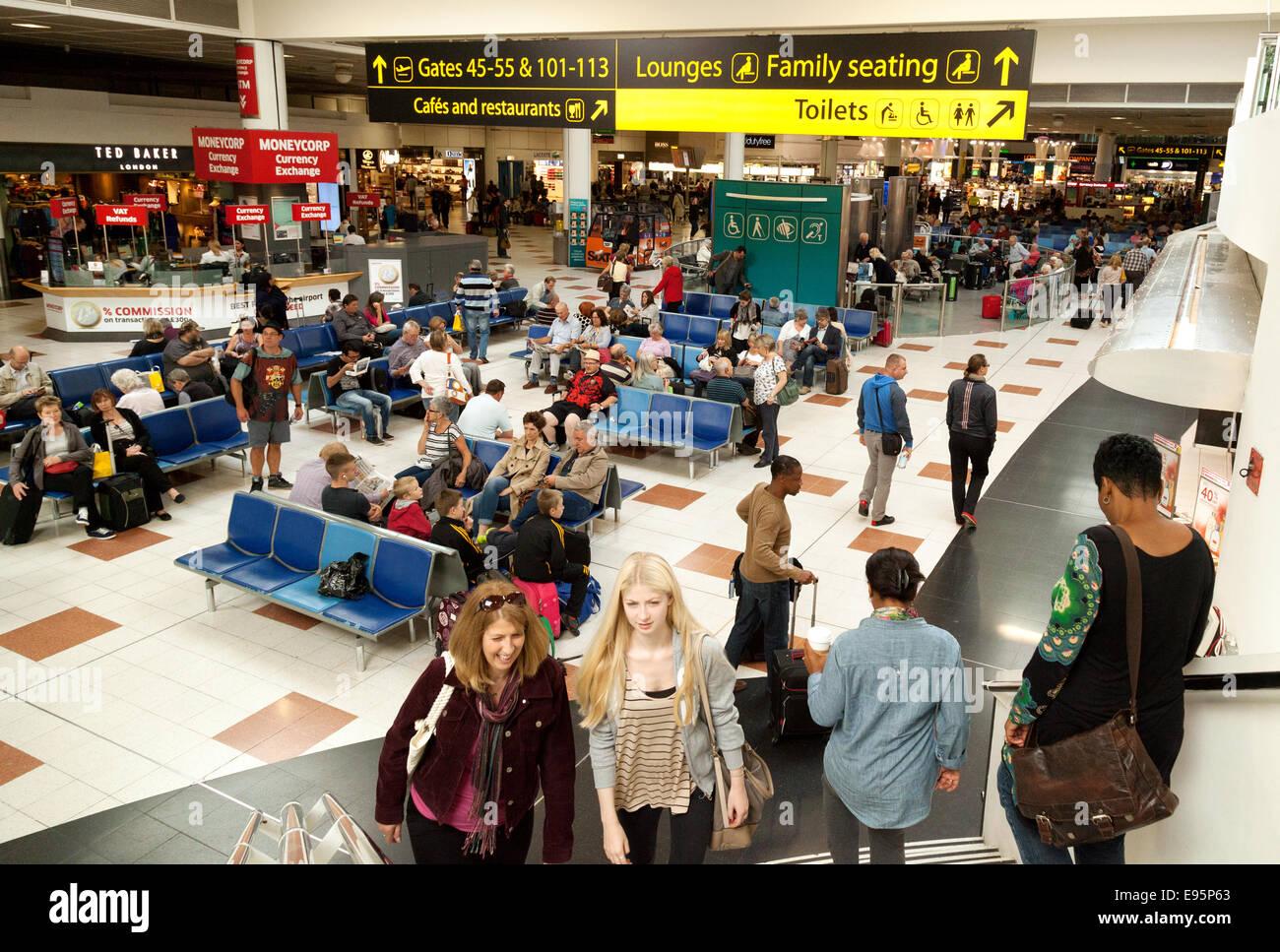 Gatwick Airport UK North terminal interior, - Stock Image