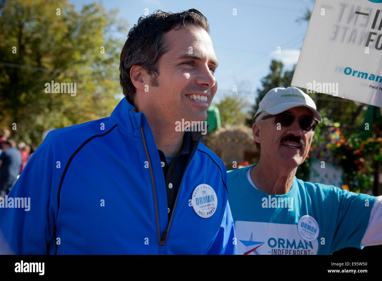 Baldwin City, Kansas, USA. 18th October, 2014. Kansas Independent candidate for United States Senate, entrepreneur - Stock Image