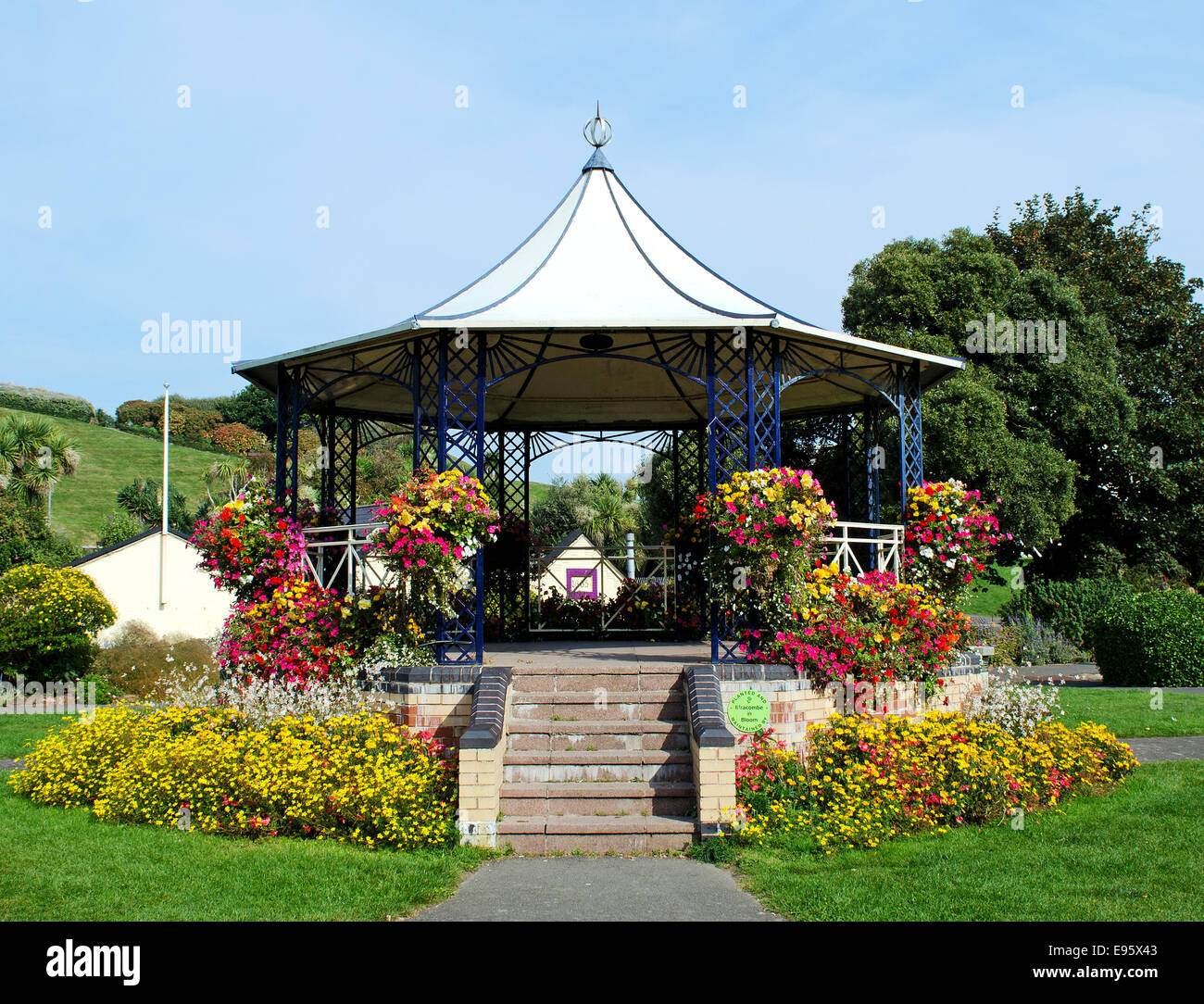 The Bandstand in Runnymede gardens, Ilfracombe, Devon, UK - Stock Image