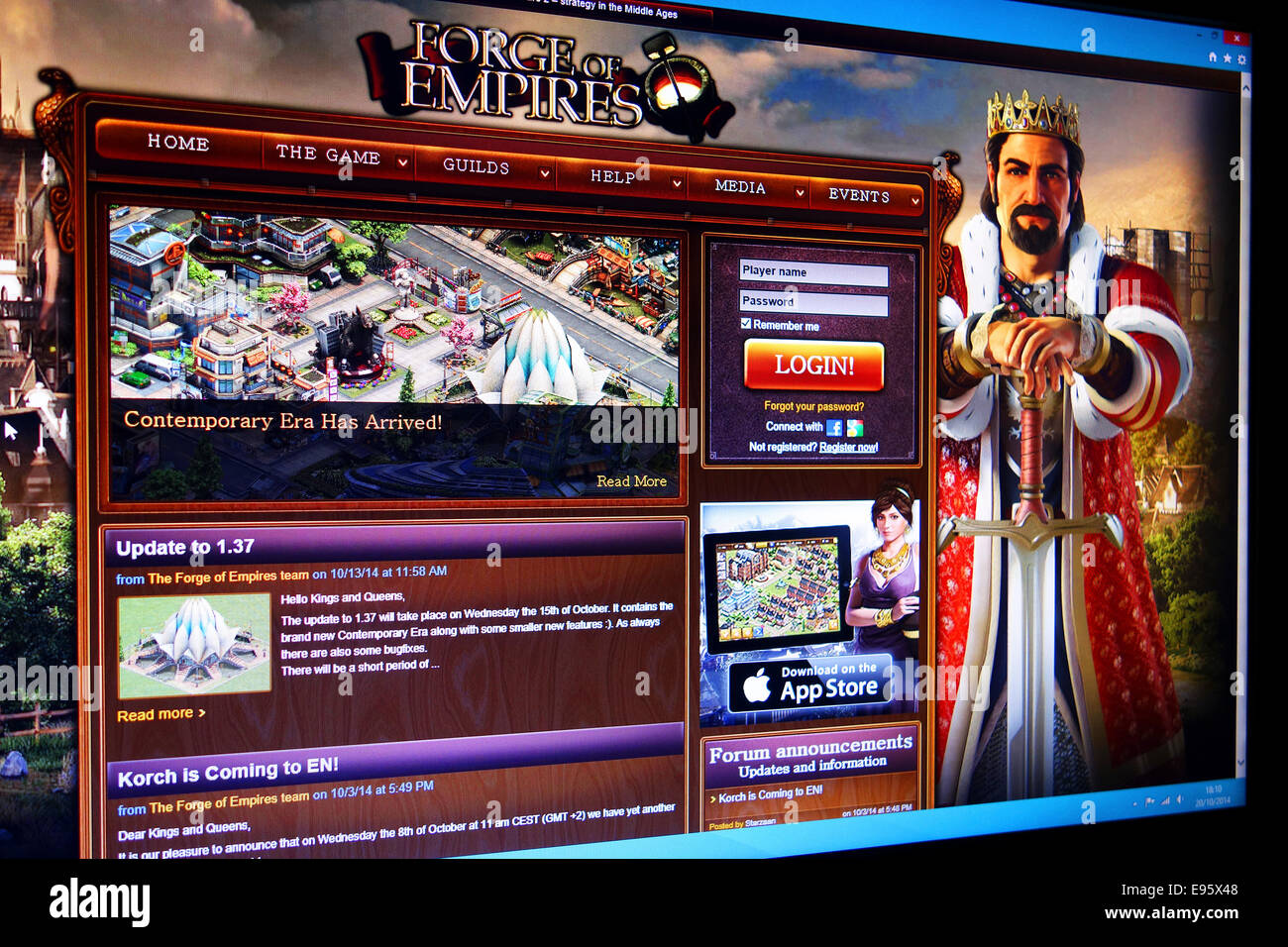 Forge of Empires web site Stock Photo: 74503640 - Alamy