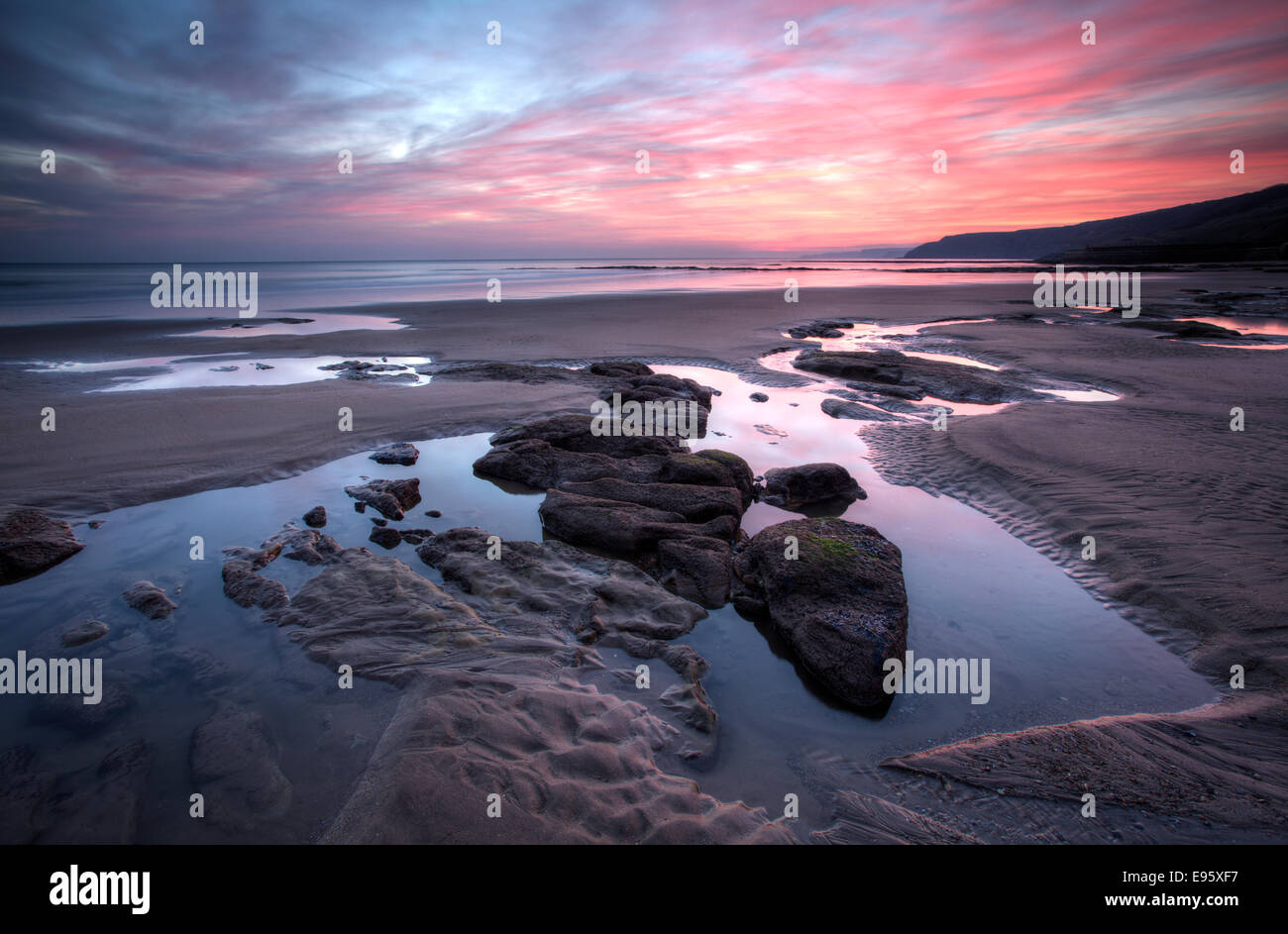 Scarborough South Beach Sunrise - Stock Image