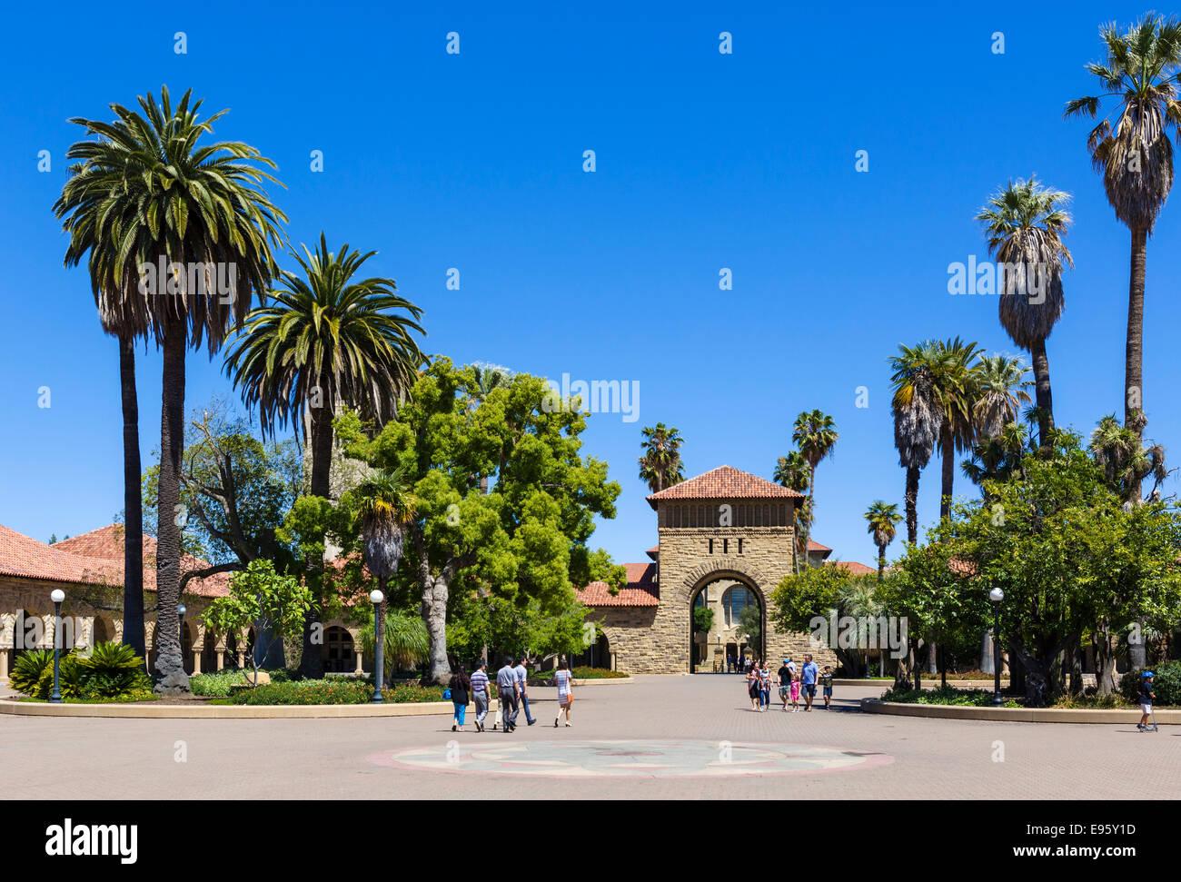 Main Quad, Stanford University, Palo Alto, California, USA - Stock Image