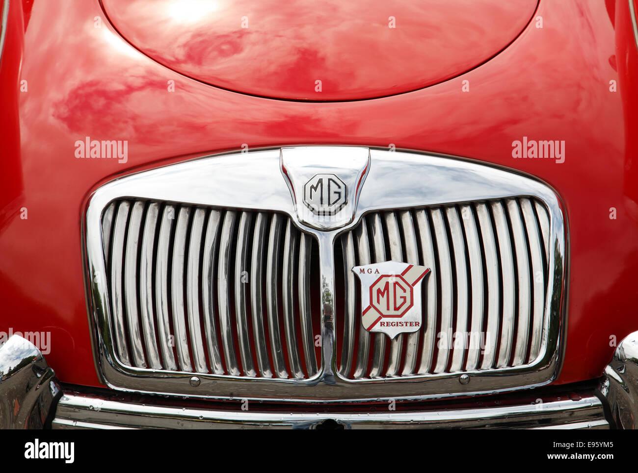 Classic Car  MG MGA Radiator - Stock Image