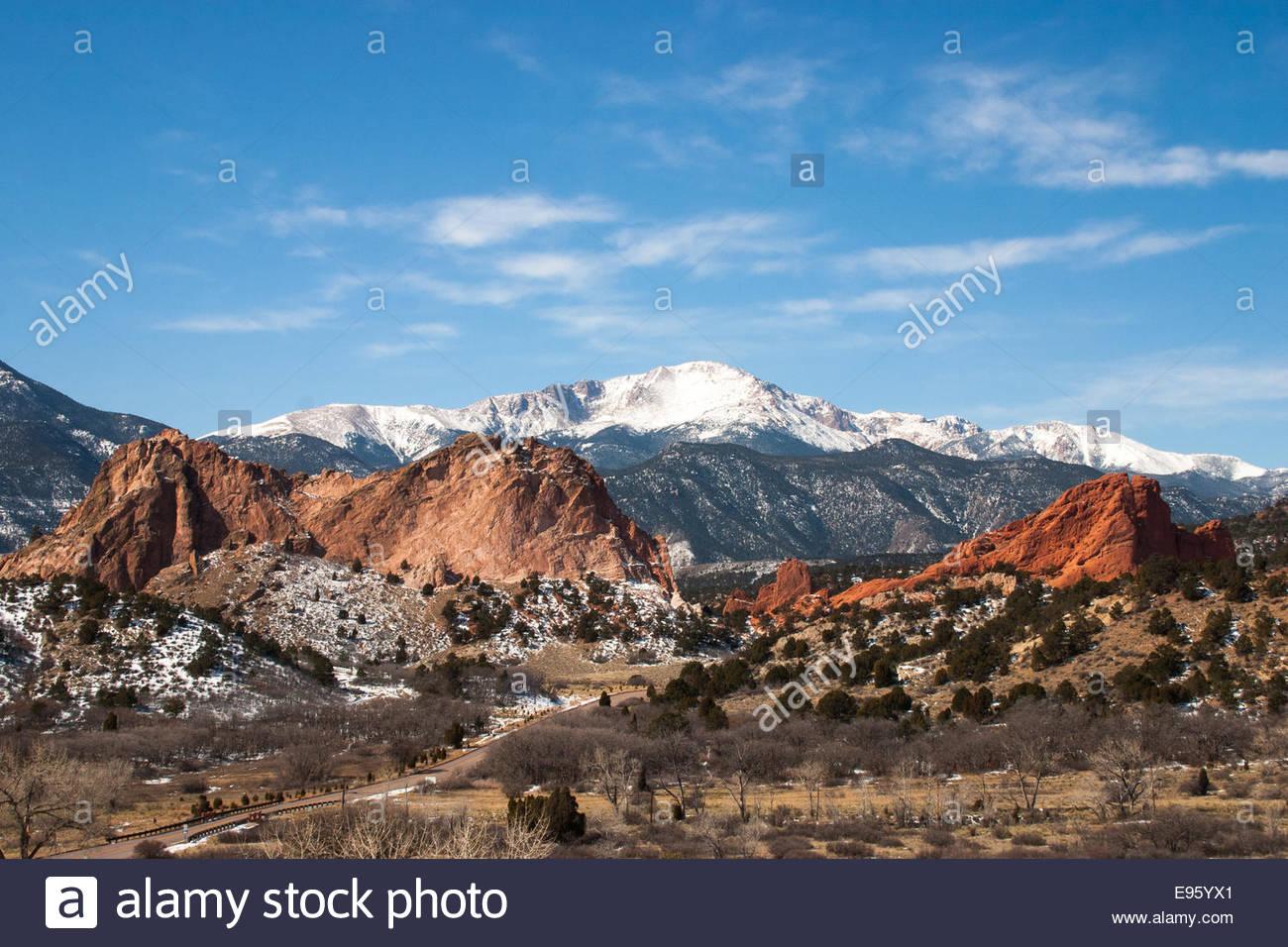 The Garden of the Gods Park, Colorado Springs, Colorado - Stock Image