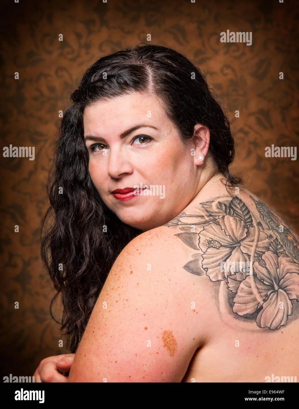 Fat nude girl portrait photo 972