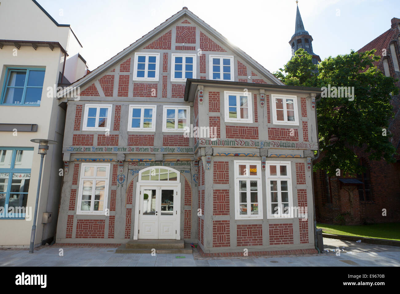 newly restored house, old town, Verden an der Aller; Lower Saxony; Germany; Europe; - Stock Image