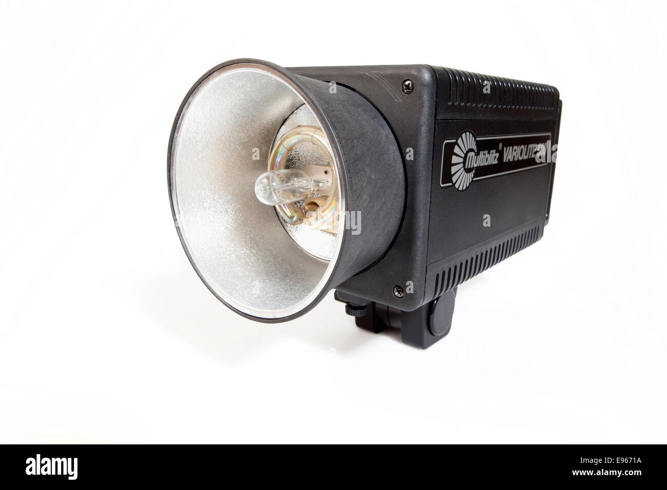 Studio flash head, - Stock Image