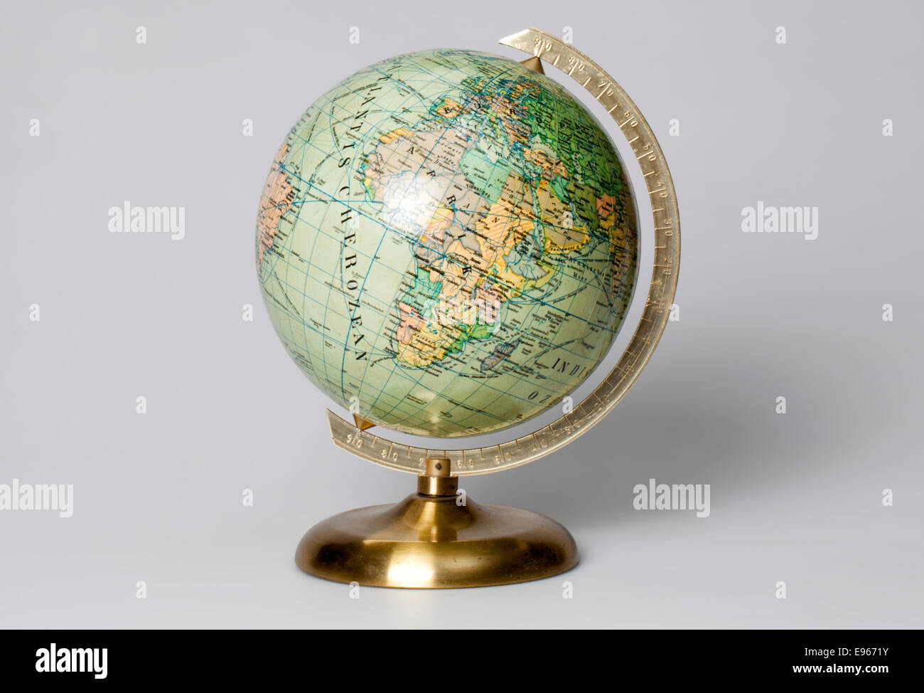 Old globe - Stock Image