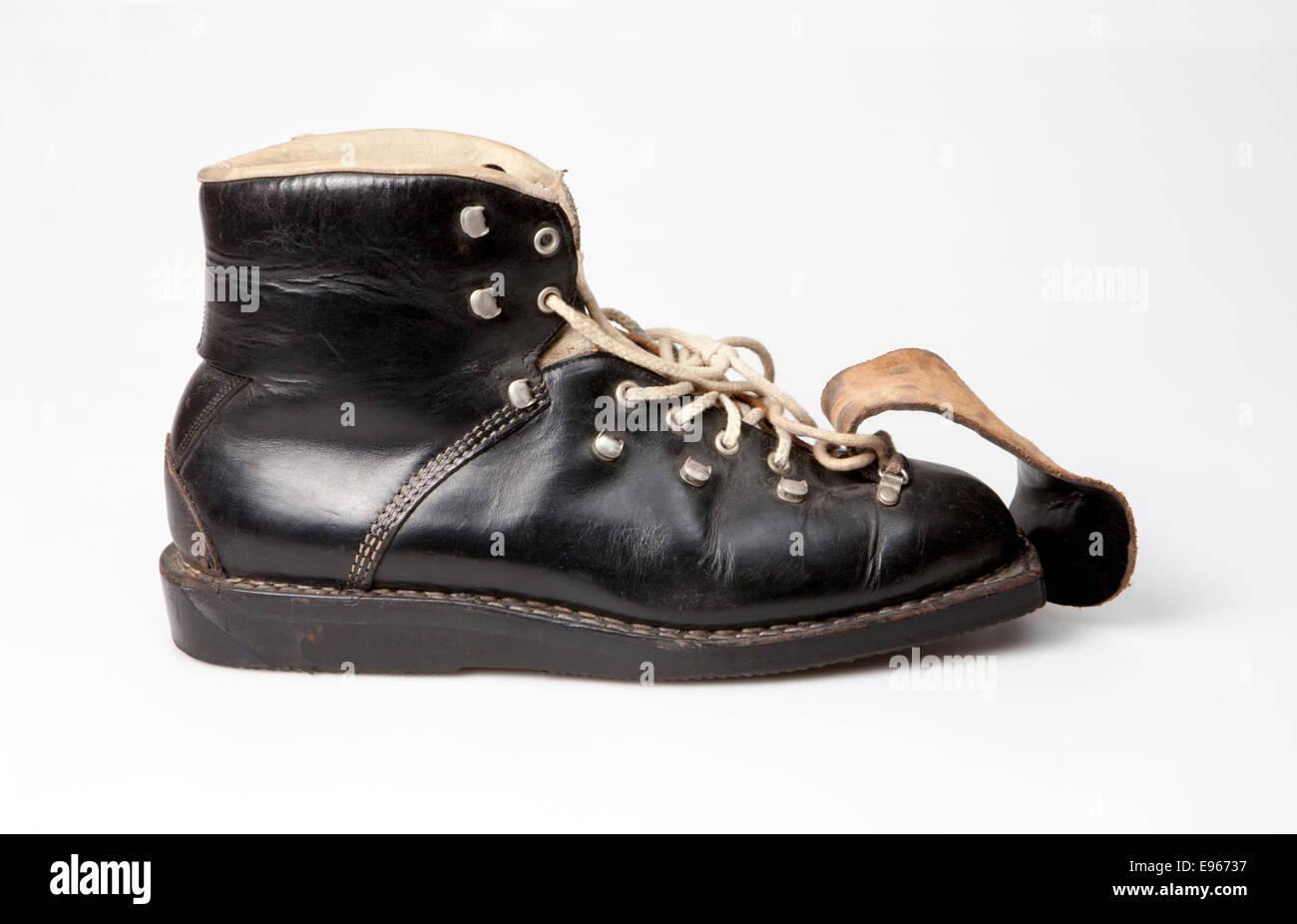 Old ski-boot - Stock Image